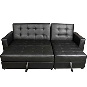Cool Homcom Deluxe Faux Leather Corner Sofa Bed Storage Sofabed Couch with  Ottoman leather corner sofa bed with storage
