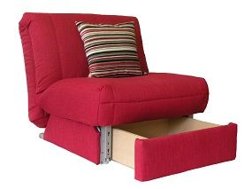 Cool Leila Deluxe Chair bed + Storage on Sofabed barn Multi-purpose furniture  the single sofa bed chair