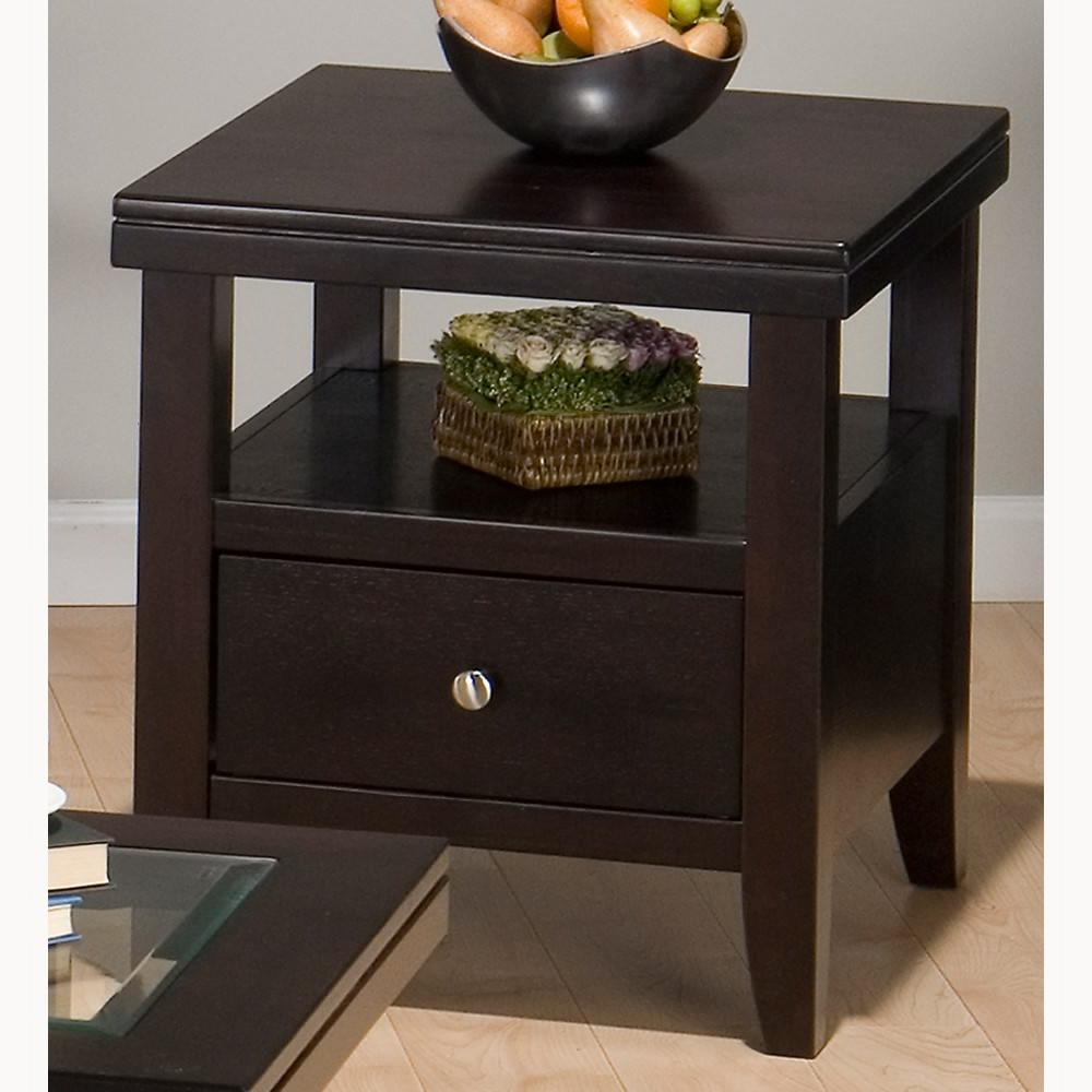 Cool ... Living Room End Tables With Storage Most Recommended Layout Brown  Lacquered storage end tables for living room