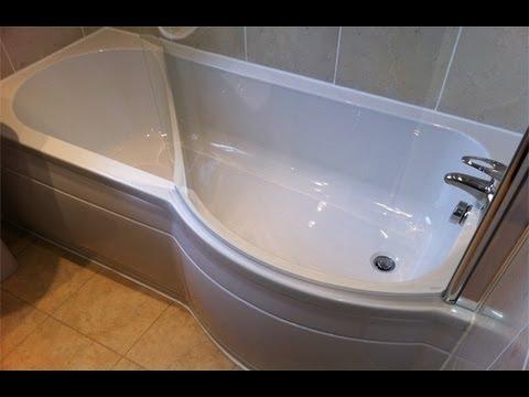 Cool Richard u0026 Richardu0027s Bathroom P Shape Bath - Newton, Hyde, Tameside - YouTube replacement p shaped bath panel