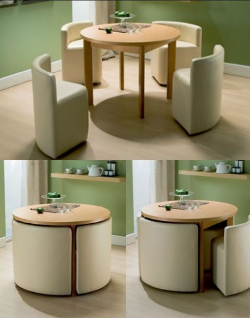Cool Round Dining Table u0026 Chairs for Small Homes space saving dining table and chairs