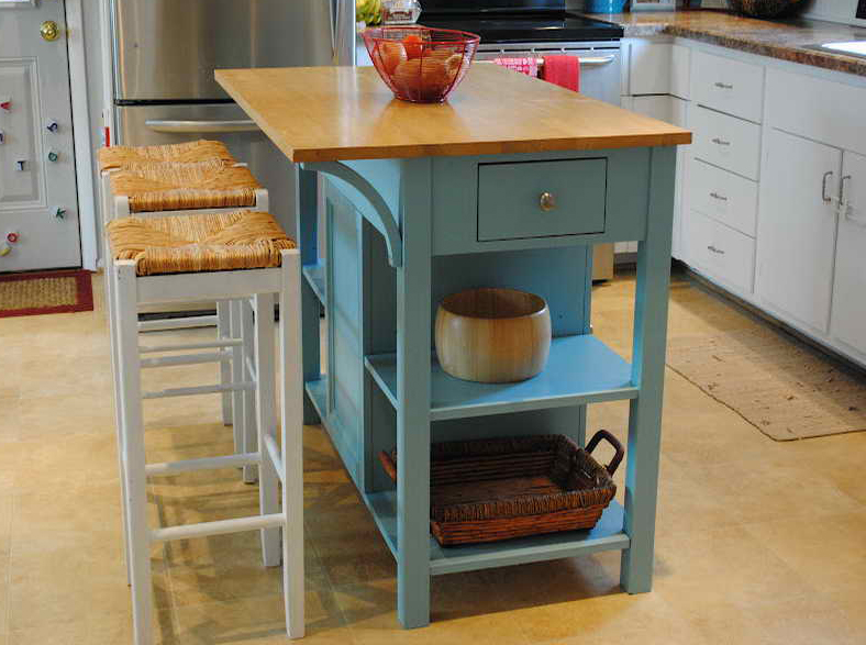 Cool Small Movable Kitchen Island With Stools | IECOB.INFO portable kitchen islands for small kitchens