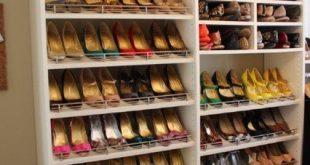 Cool Spectacular Shoe Storage contemporary-closet closet shoe rack
