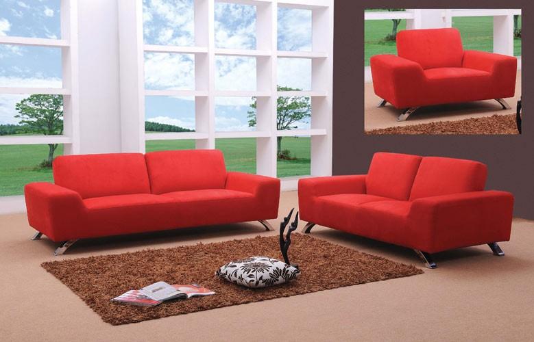 Cool Sunset Modern Red Sofa Set red sofa set