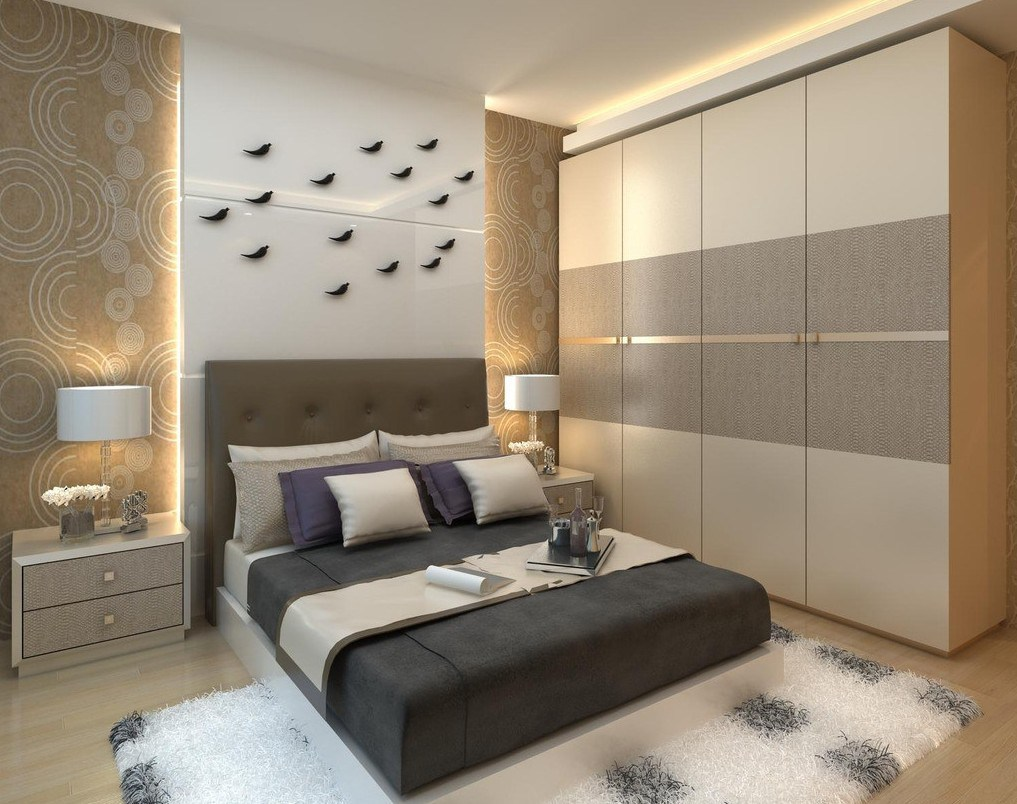 Cool The Modern Design of the Bedroom looks really beautiful and eye catching. wardrobe designs for bedroom