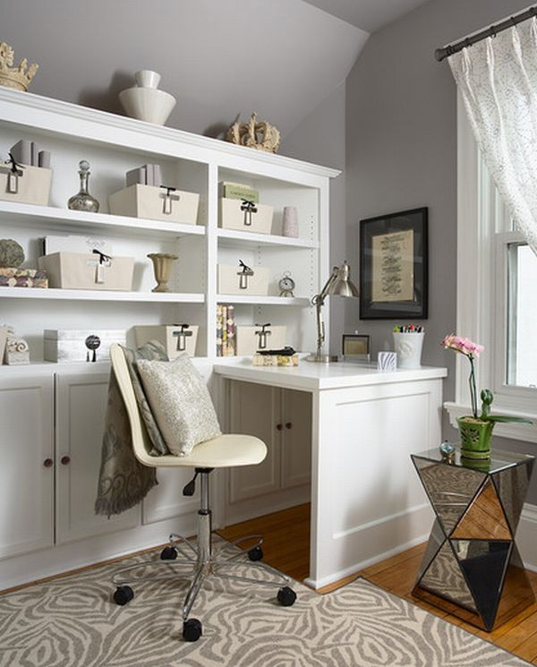 Cool View in gallery Organized home office space ... small office space design ideas for home