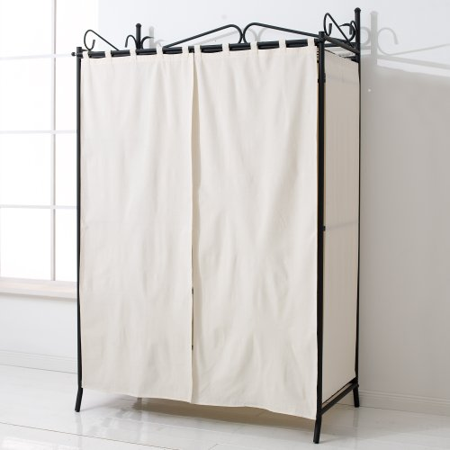 Cool ... Wardrobe-Breezy-with-Metal-Frame-and-Cotton-Cover- ... metal frame wardrobe