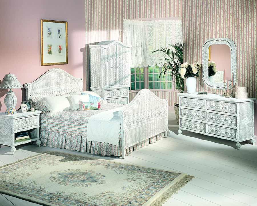 Cool ... white wicker bedroom furniture ideas ... white wicker bedroom furniture