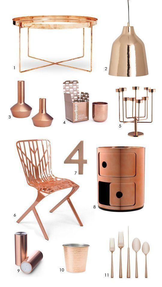 Elegant Color Forecast: Cool Copper Accessories copper decorative accessories