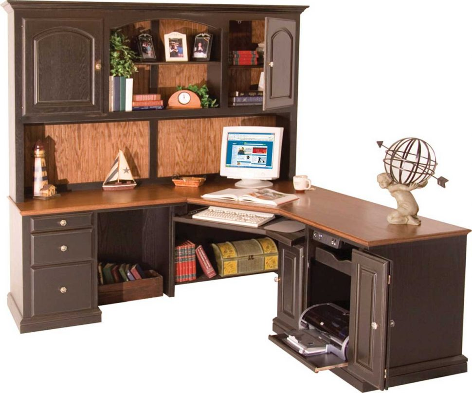 Photos of Furniture Office:Corner Office Desk With Hutch Modern New 2017 Office  Design corner office desk with hutch