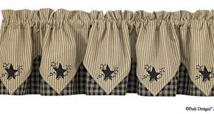 Trending Black Star Embroidered country valances