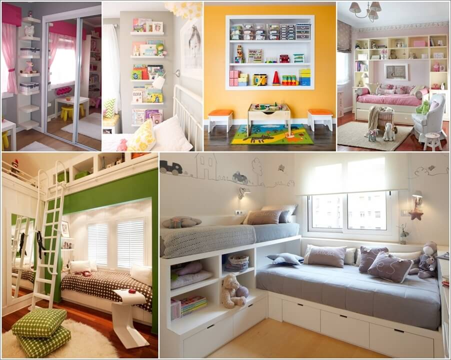 Cozy 12 Clever Small Kids Room Storage Ideas small kids room storage ideas