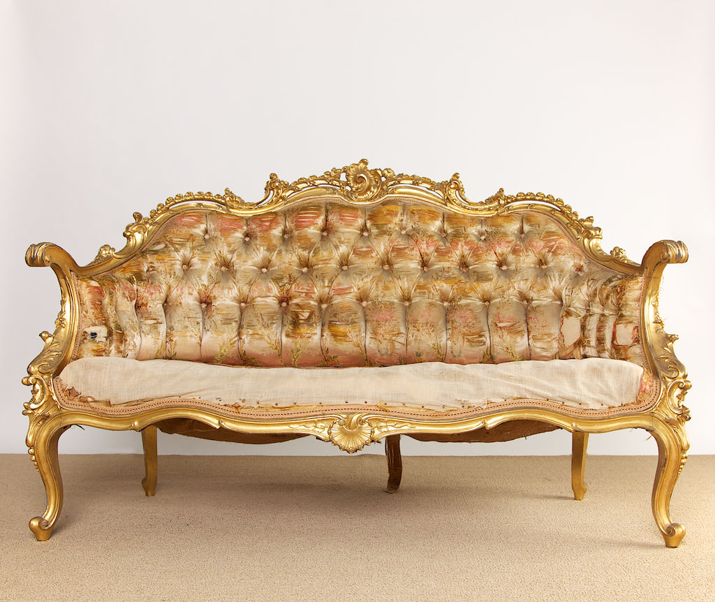 Cozy 19th Century French Rococo Style Louis XV Settee rococo style furniture
