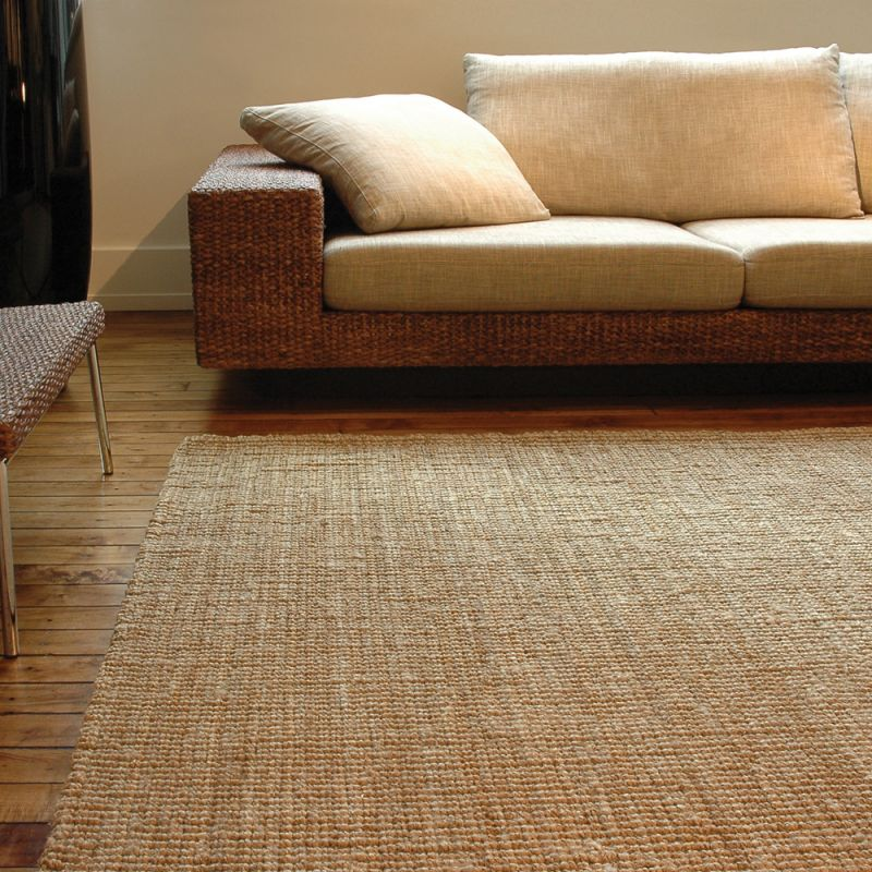 Use natural rugs to create a safe environment