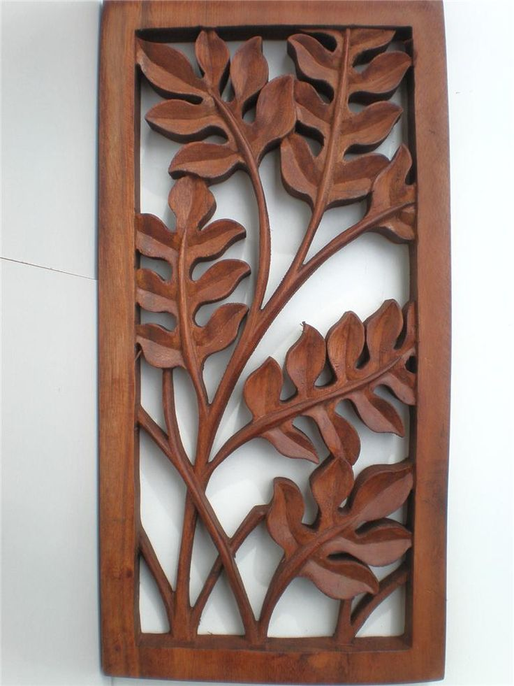 Cozy Bali Leaf Wood Carved Wall ART Hanging Relief Carving Balinese 40cm | eBay wood carved wall art