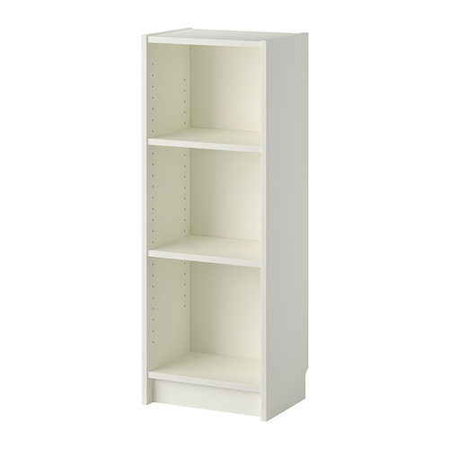 Cozy BILLY Bookcase IKEA Narrow shelves help you use small wall spaces small white bookcase