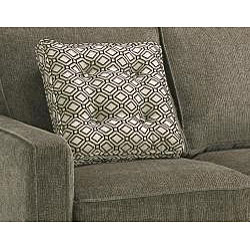 Cozy ... Calabria Graphite Grey Chenille Fabric Sofa chenille fabric sofa