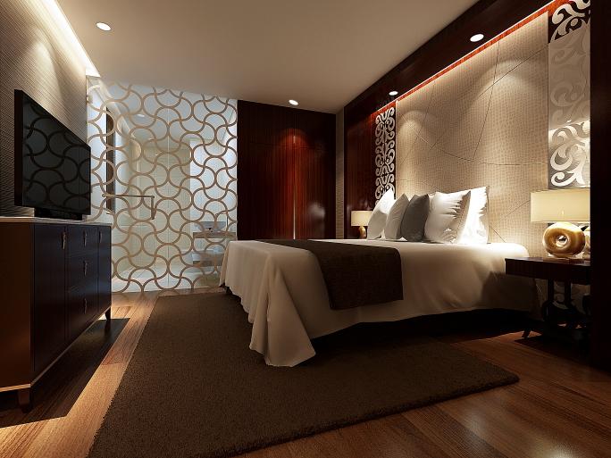 Cozy Dark bedroom design with wood walls, wood flooring and dark wood furniture master bedroom furniture designs