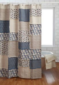 Cozy Details about Millie Shower Curtain Tan/Creme French Country Cottage Blue  Natural Canvas french country shower curtains