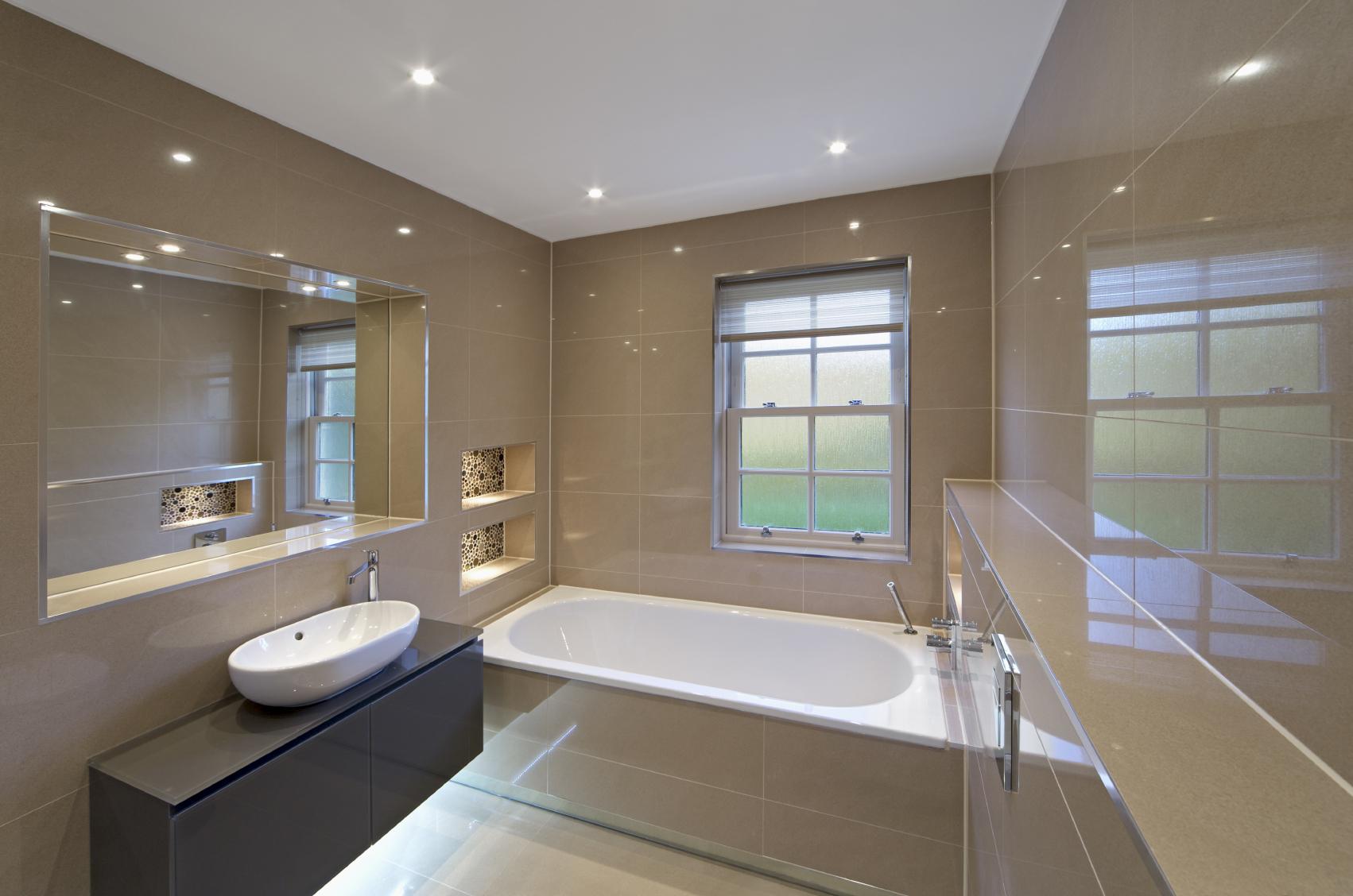 Cozy Image of: bathroom mirror with led lights led bathroom lights