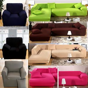 Cozy L Shape Stretch Elastic Fabric Sofa Cover Pet Dog Sectional /Corner Couch sectional sofa covers