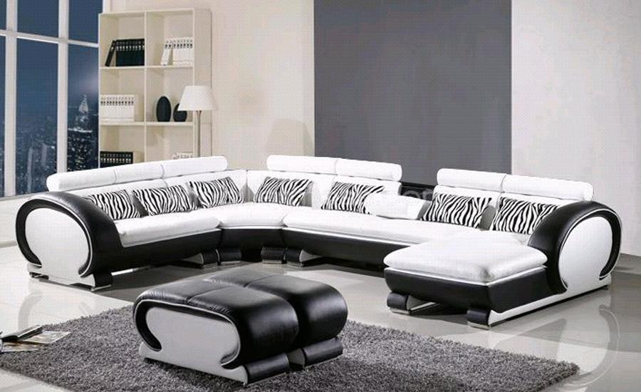Cozy L Shaped Sofa Genuine Leather Corner sofa with Ottoman Chaise Lounge sofa l shape sofa set