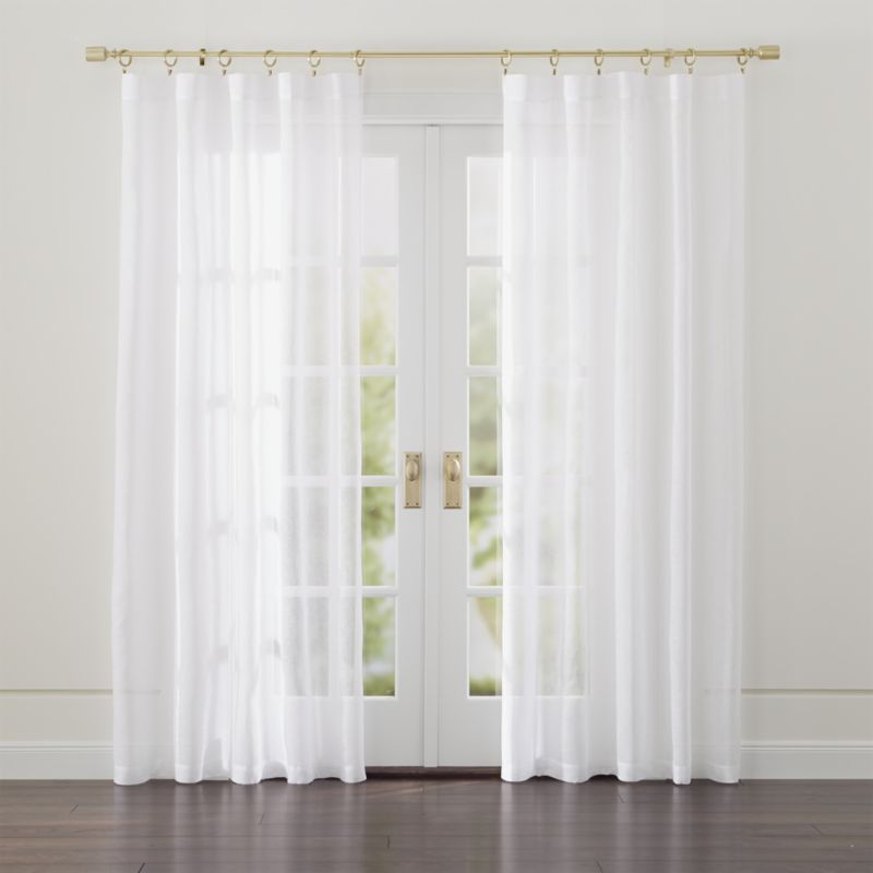 Cozy Linen Sheer White Curtains | Crate and Barrel white sheer curtains