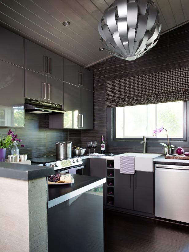 Cozy Modern Gray Kitchen modern kitchen cabinet ideas