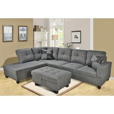 Cozy QUICK VIEW. Russ Sectional microfiber sectional sofa