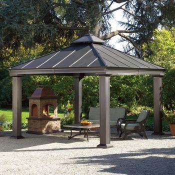 Cozy Royal Square Hardtop Gazebo. Metal roof. metal patio gazebo