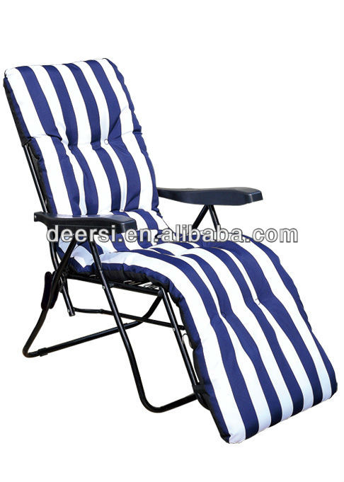Cozy Russia and Greece best seller- padded Recliner,Folding Chair with cushion padded reclining garden chairs