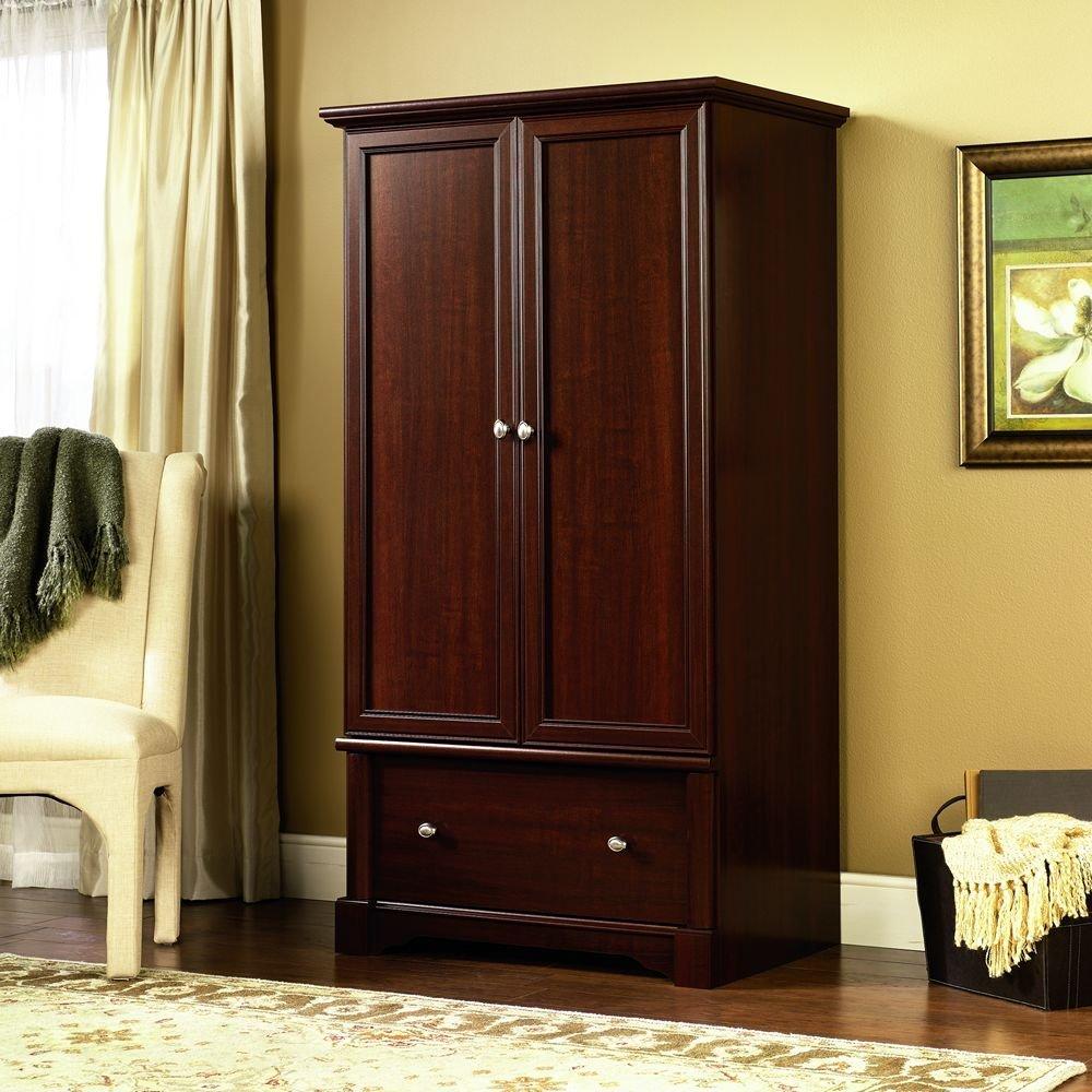Cozy Sauder Palladia Armoire, Cherry wardrobe closet armoire