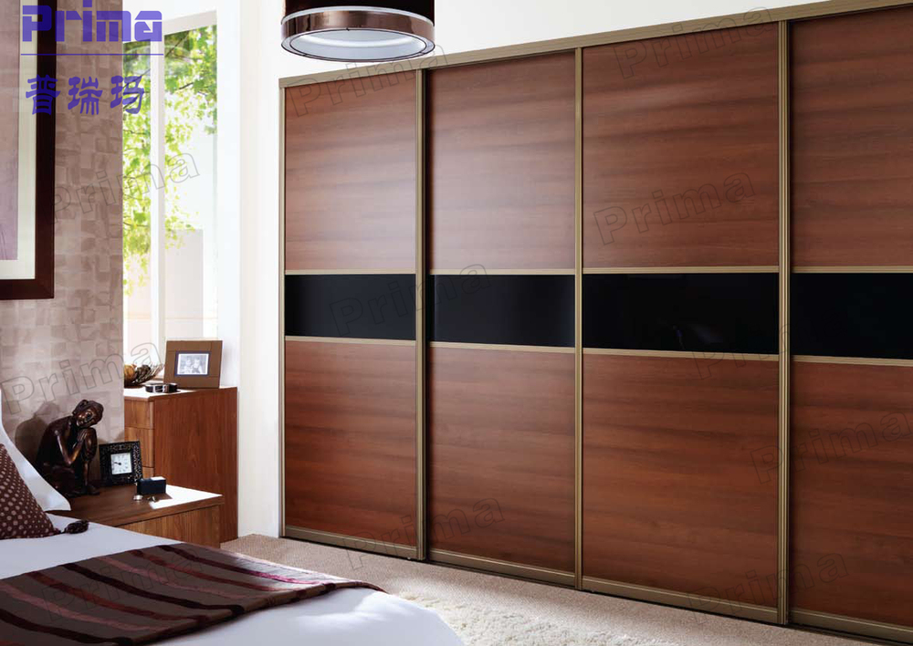 Cozy timber veneer bedroom wall wardrobe design wall wardrobe design for bedroom