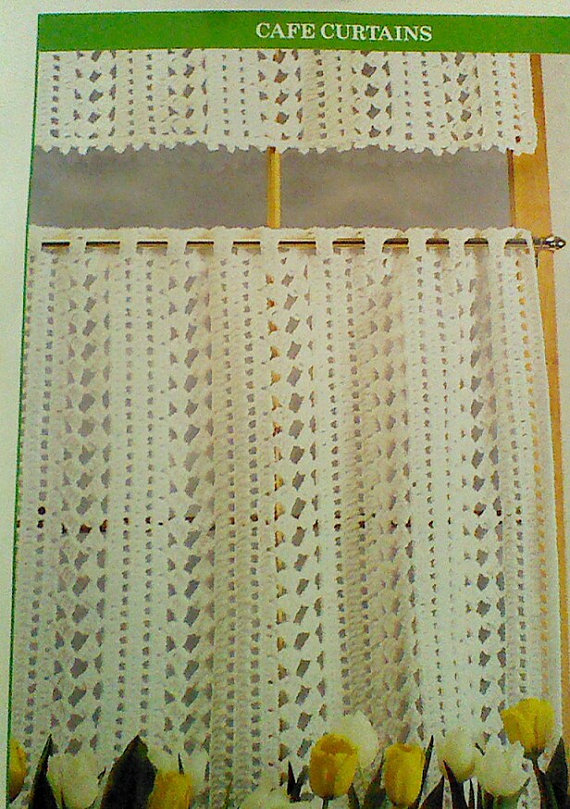 Cozy Vintage Crochet Cafe Curtain Pattern crochet cafe curtains