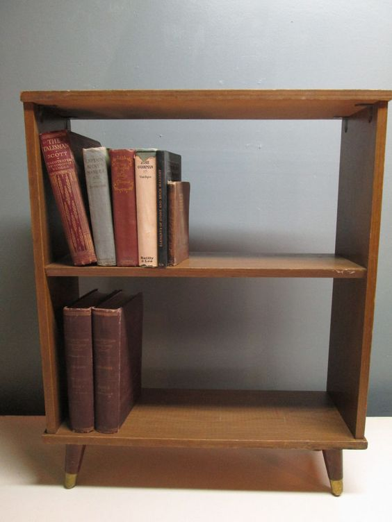 Cozy Vintage Small Danish Modern Mid Century Wood Bookshelf Danishes small wooden bookshelf