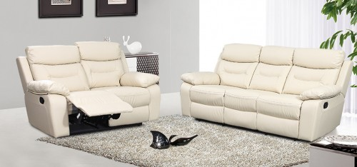 Elegant cream leather reclining sofa kc designs cream leather recliner sofa