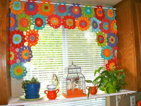 Compact 1 crochet kitchen curtains