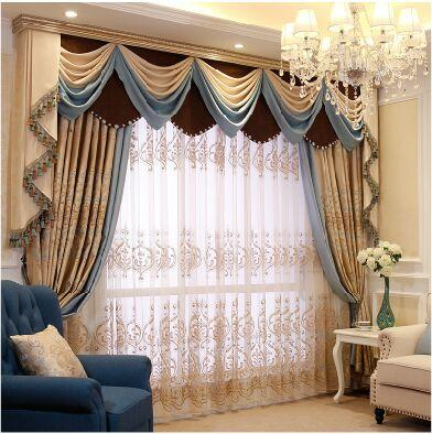 Master Iraq mantle Nepalese relief simple European curtains living room / bedroom  upscale custom made window treatments