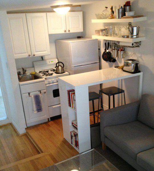 Cute 10 Modest Kitchen area Organization And DIY Storage Ideas 9 studio type kitchen design