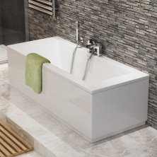 Cute 1700x750x540mm Square Double Ended Bath 1700x750x540mm Square Double Ended  Bath small double ended baths