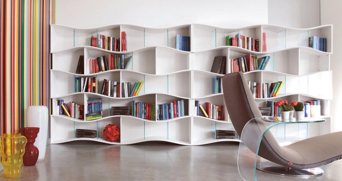 Cute 20 Creative Bookshelves: Modern and Modular modern bookshelf design