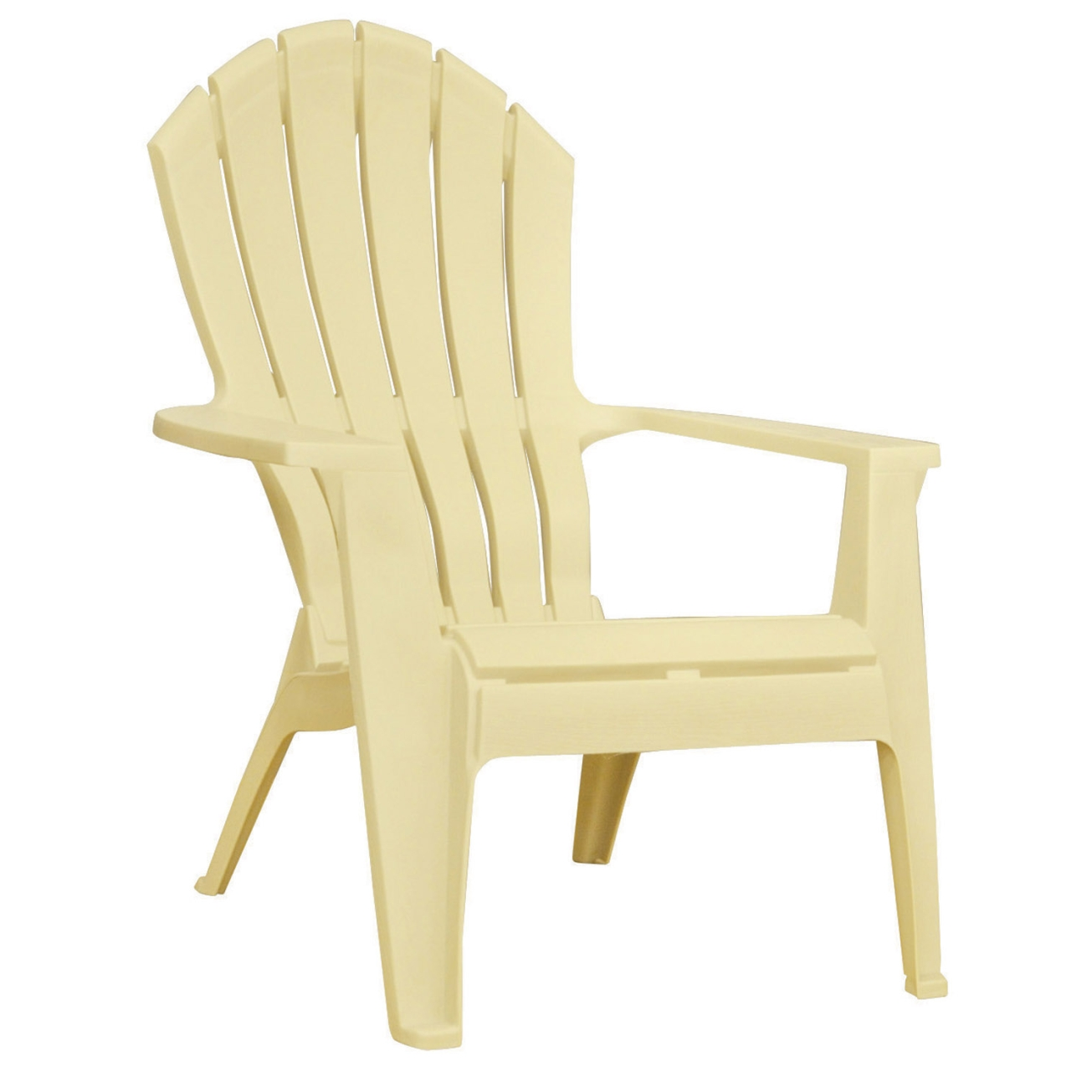 Cute Adams Adirondack Stacking Chair in Banana - Ace Hardware plastic adirondack chairs