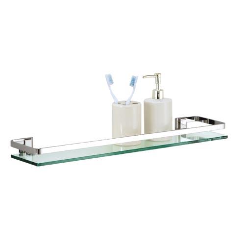 Cute Bath Set of Six Glass Bath Shelves with Rail glass shelving for bathroom