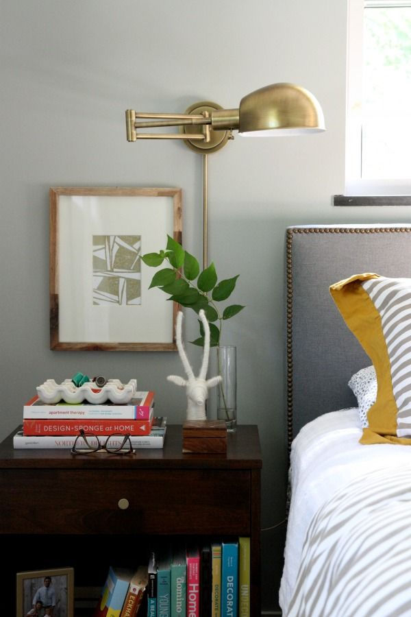 Cute Bedroom Lighting Design: Brass Wall Sconces bedroom sconce lighting