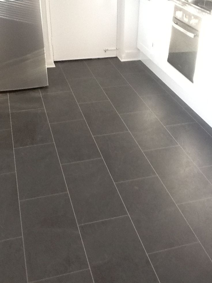 Cute black slate vinyl floor tiles - Google Search vinyl flooring bathroom