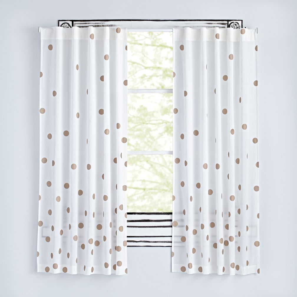 Cute Bronze Dot Curtains nursery blackout curtains