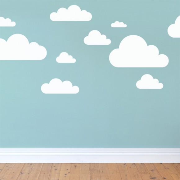 Cute Cloud Wall Stickers for Nursery cloud wall stickers