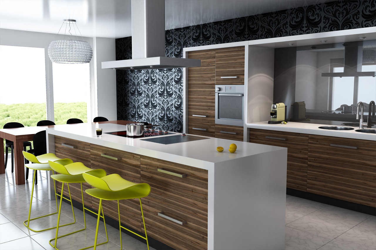 The Comfortable Working with Full Facilitative and Modern Kitchen Ideas