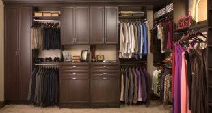 Cute Custom Walk-In Closet Organizers: Chocolate Pear contemporary walk in closet organizers