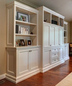 Cute Entertainment Center - traditional - Living Room - Birmingham - Quartersawn living room cabinets